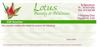 Lotus Beauty & Wellness Voucher